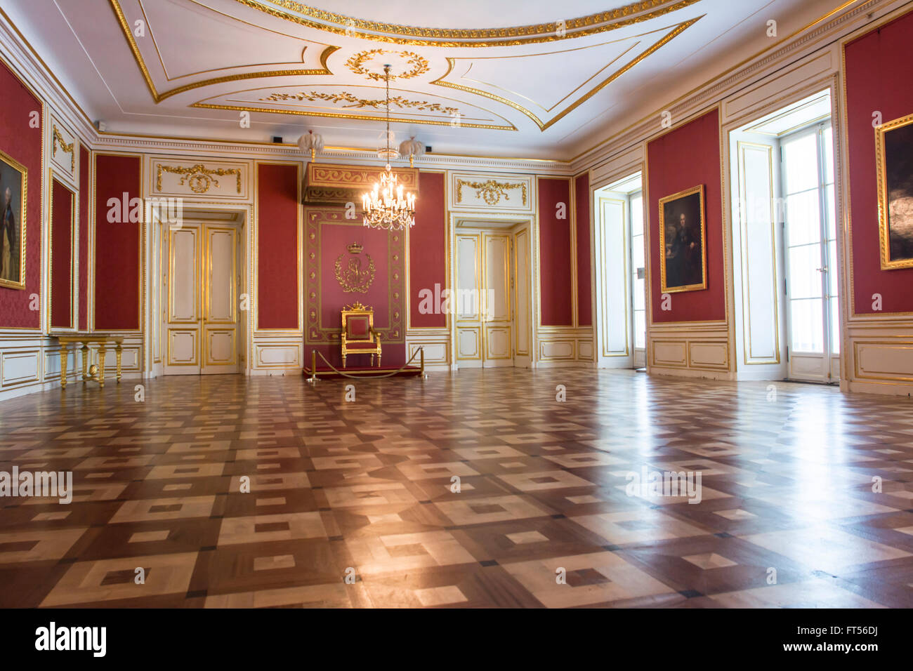 Indoors of The Royal Castle in Warsaw, Poland Stock Photo