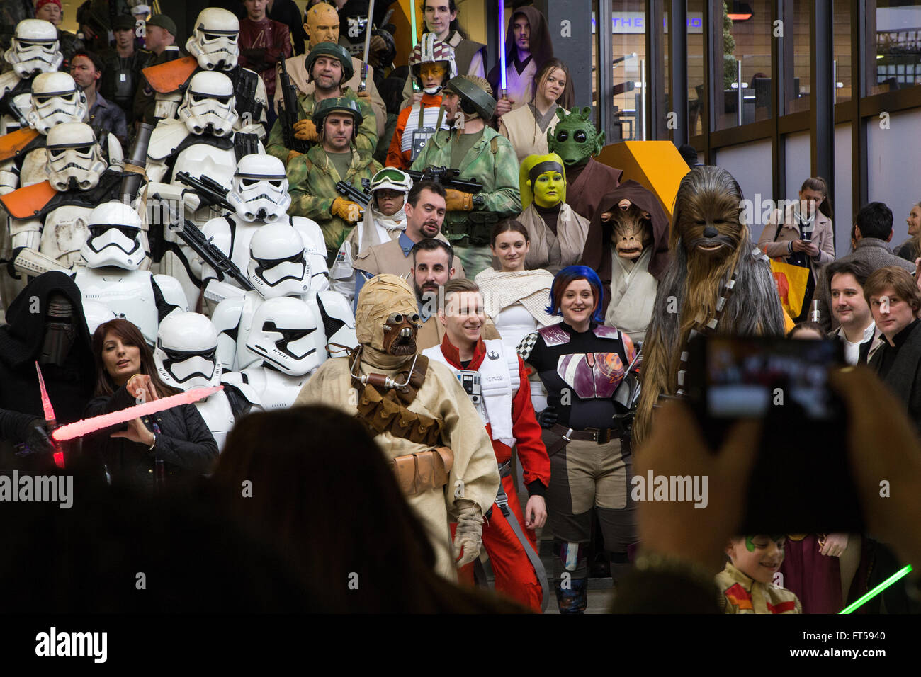 Star Wars characters at Cosplay event - Stock Image
