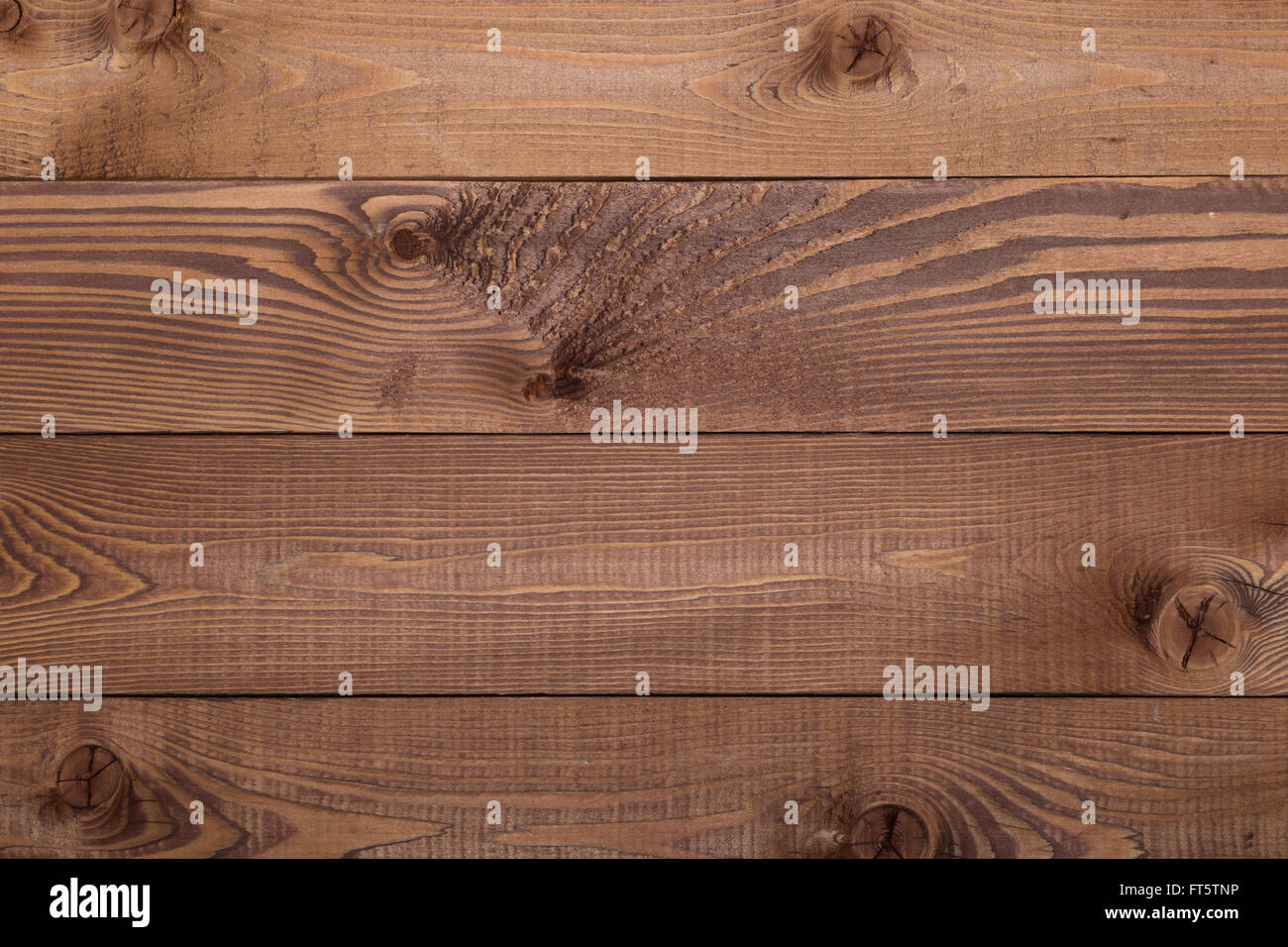 Brown wooden texture, horizontal desks, close up view Stock Photo