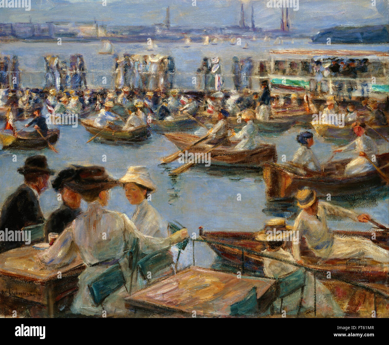 Max Liebermann - On the Alster in Hamburg - Galerie Neue Meister – New Masters Gallery Stock Photo
