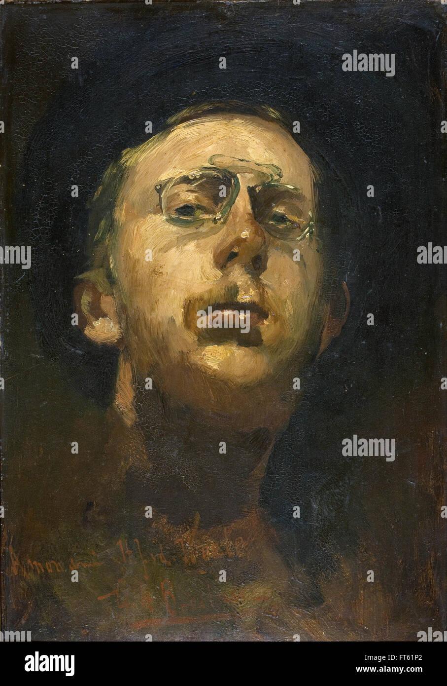 George Hendrik Breitner - Self-portrait with pince-nez - Gemeentemuseum Stock Photo