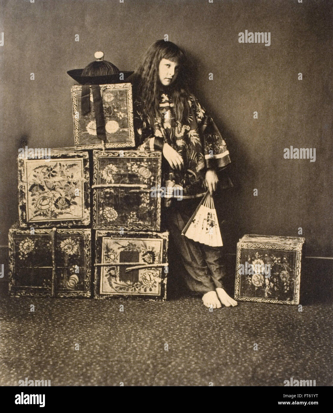 Lewis Carroll - Xie Kitchin as  A Chinaman - Stock Image