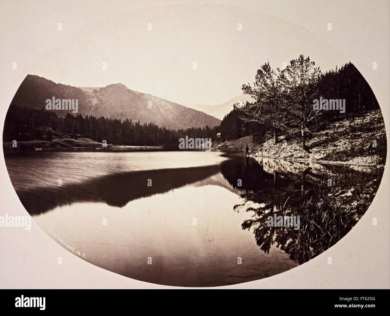William Henry Jackson - Mystic Lake - Stock Image
