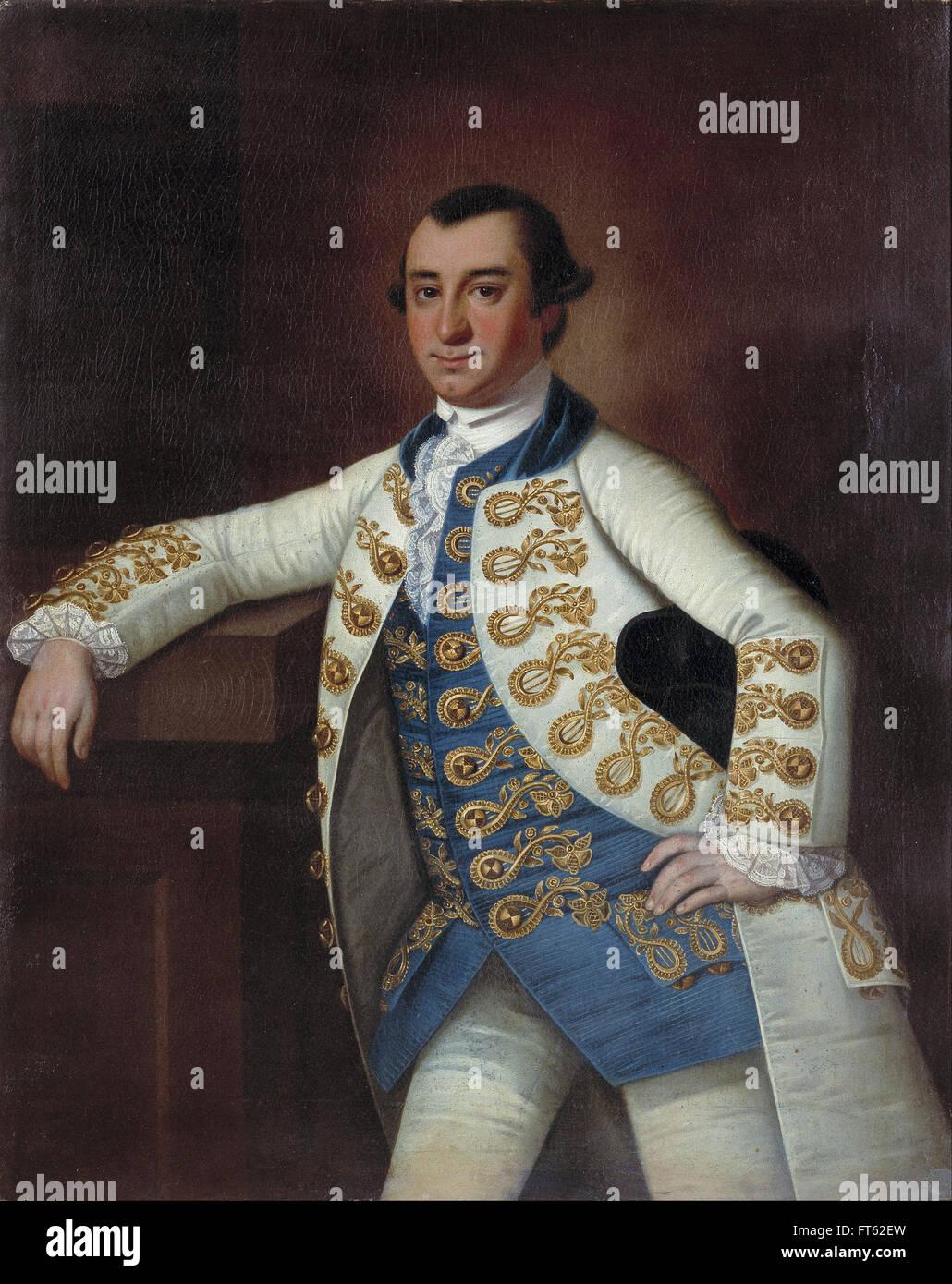 Jeremiah Theus - Colonel Barnard Elliott, Jr. - Gibbes Museum of Art - Stock Image