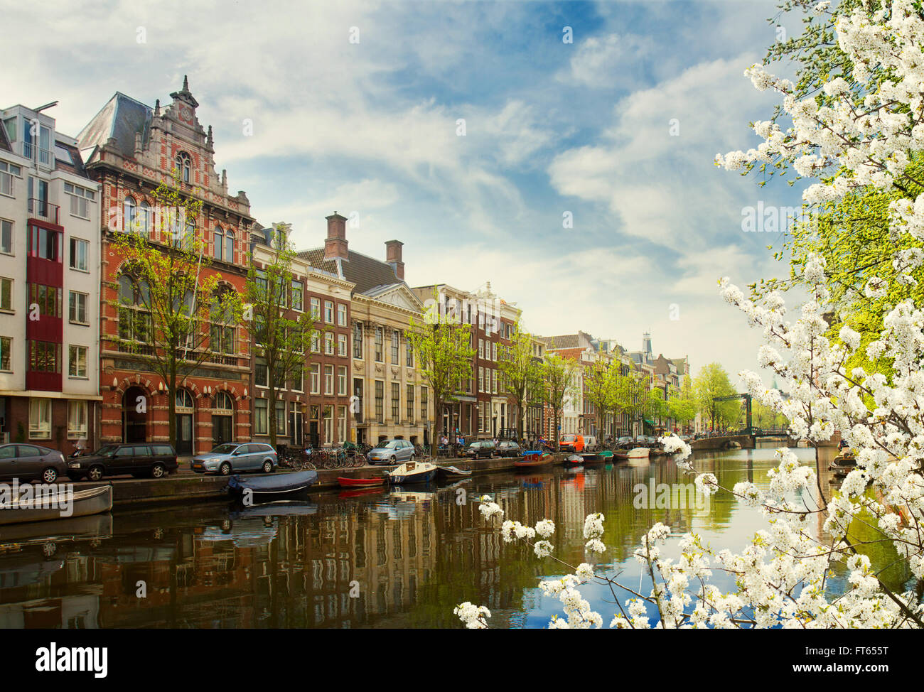embanlment of canal ring, Amsterdam - Stock Image