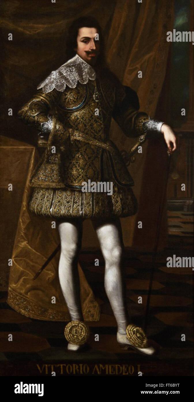 Portrait of Vittorio Amedeo I - La Venaria Reale - Stock Image
