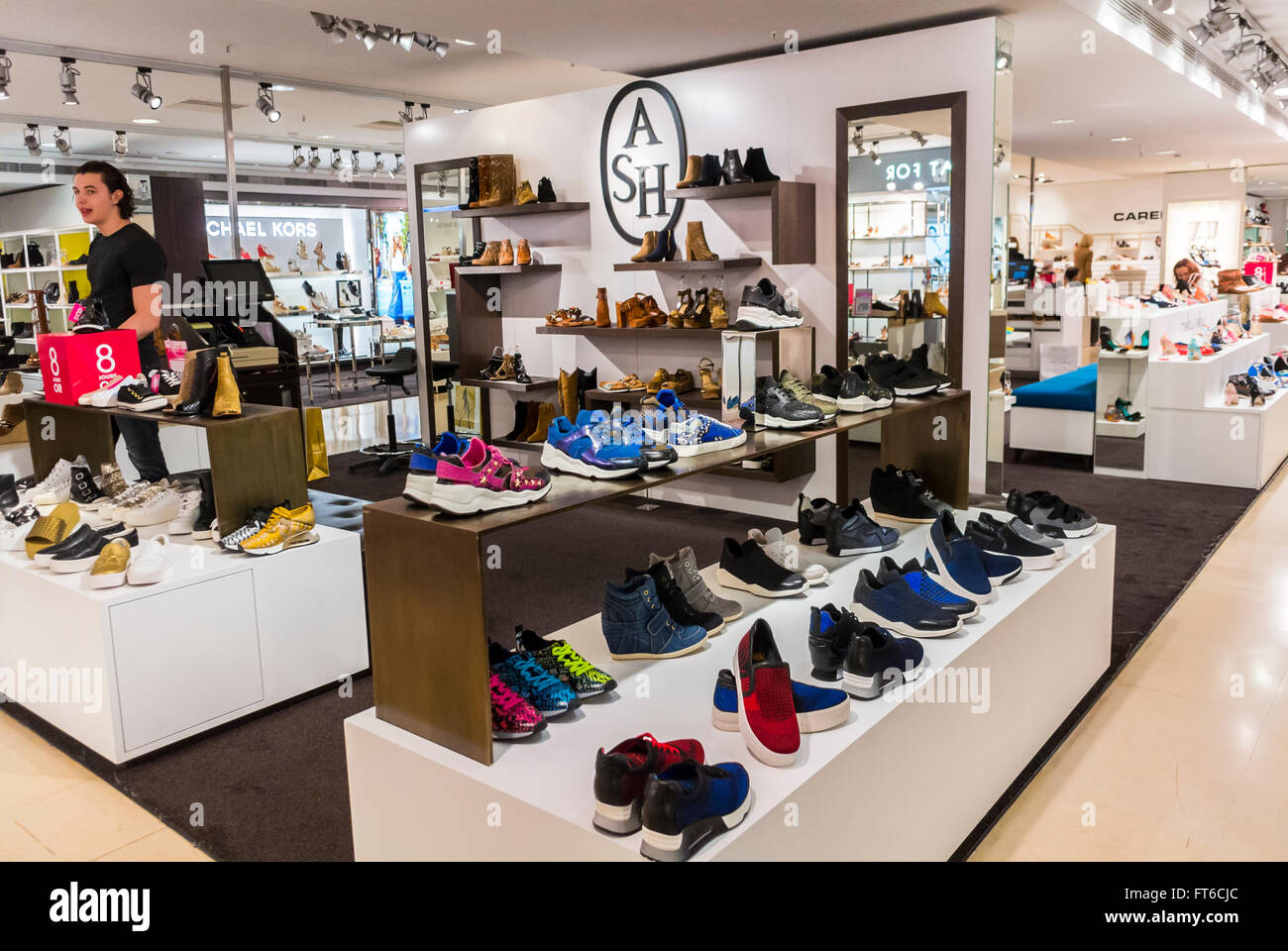 clothing accessories store interiors stock photos