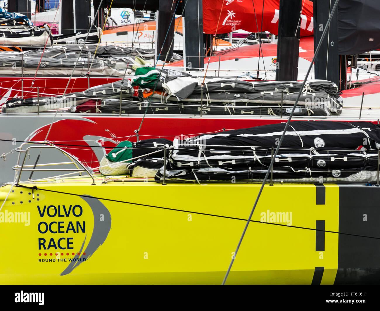 Volvo Ocean Race Stopover Festival in Scheveningen, The Hague, Netherlands - 19th June 2015 (VOR 2014-2015) - Stock Image