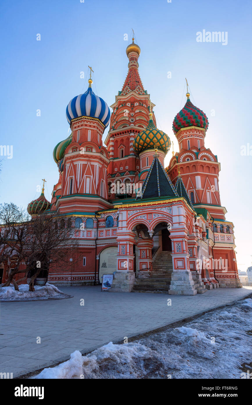 Cathedral on Red Square in Moscow, Russia - Stock Image