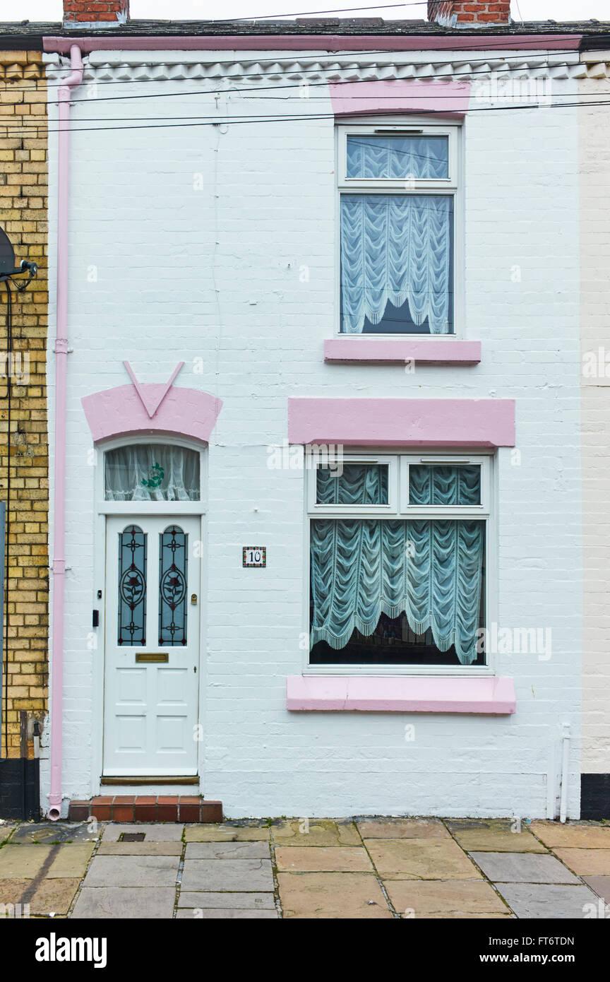 Ringo Starr's childhood house, 10 Admiral Grove, Liverpool 8 Stock Photo
