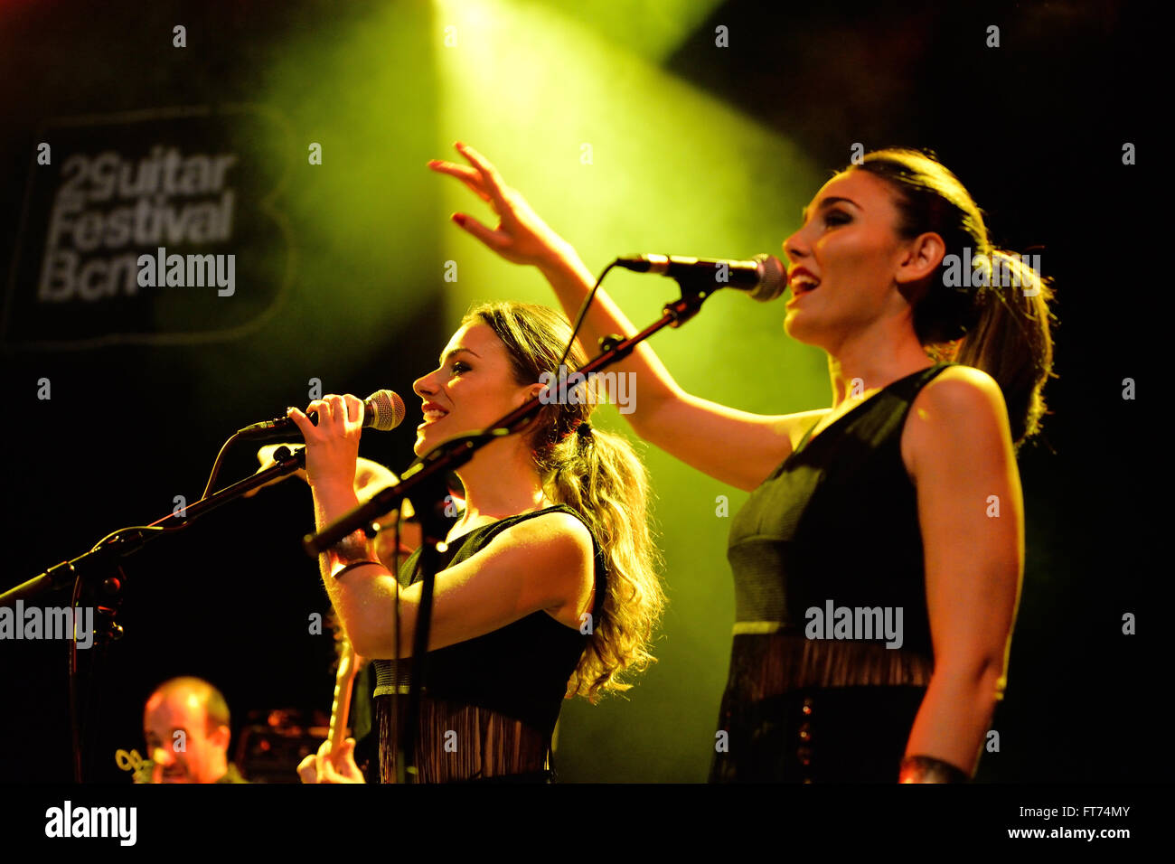 BARCELONA - MAY 15: Aurora and the Betrayers (band) performance at Barts stage on May 15, 2014 in Barcelona, Spain. - Stock Image