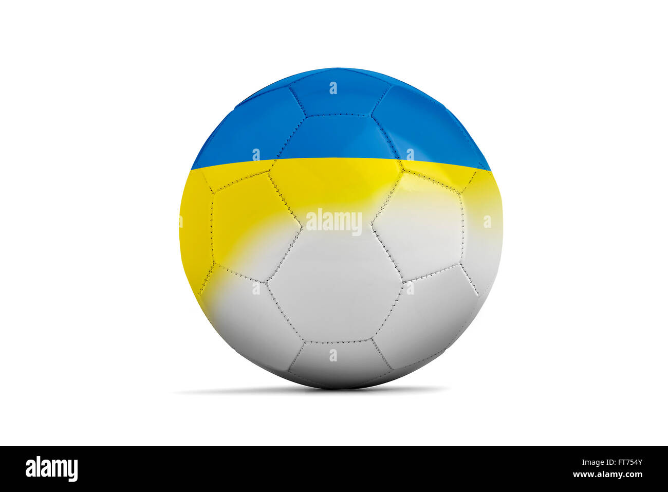 Soccer balls with team flags, Football Euro 2016. Group C, Ukraine- clipping path Stock Photo