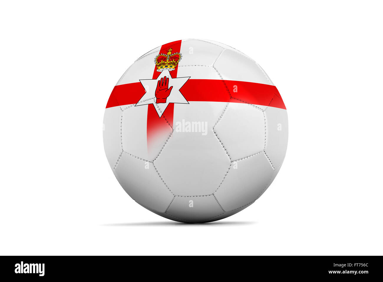 Soccer balls with team flags, Football Euro 2016. Group C, North Ireland- clipping path Stock Photo