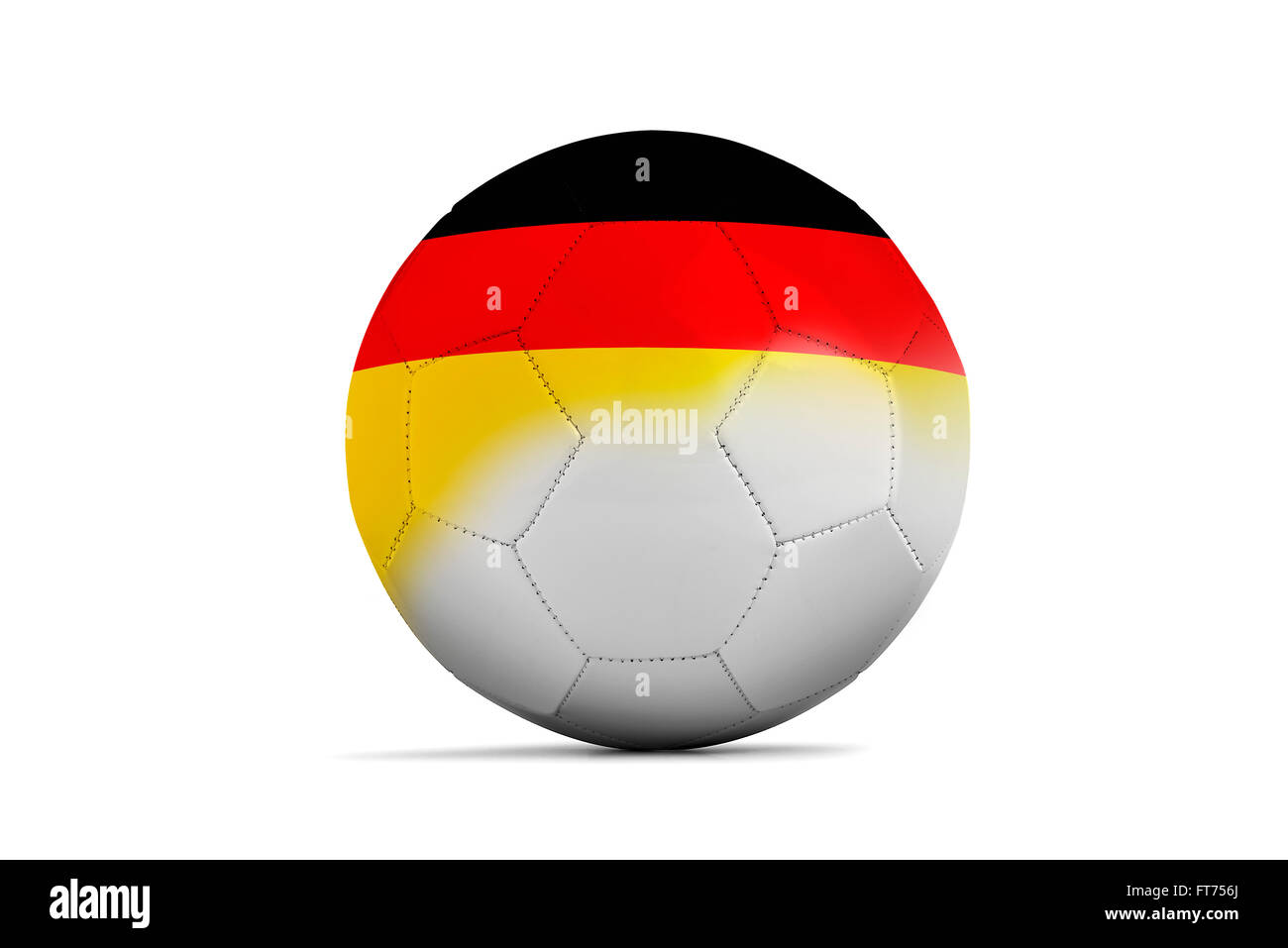 Soccer balls with team flags, Football Euro 2016. Group C, Germany- clipping path Stock Photo