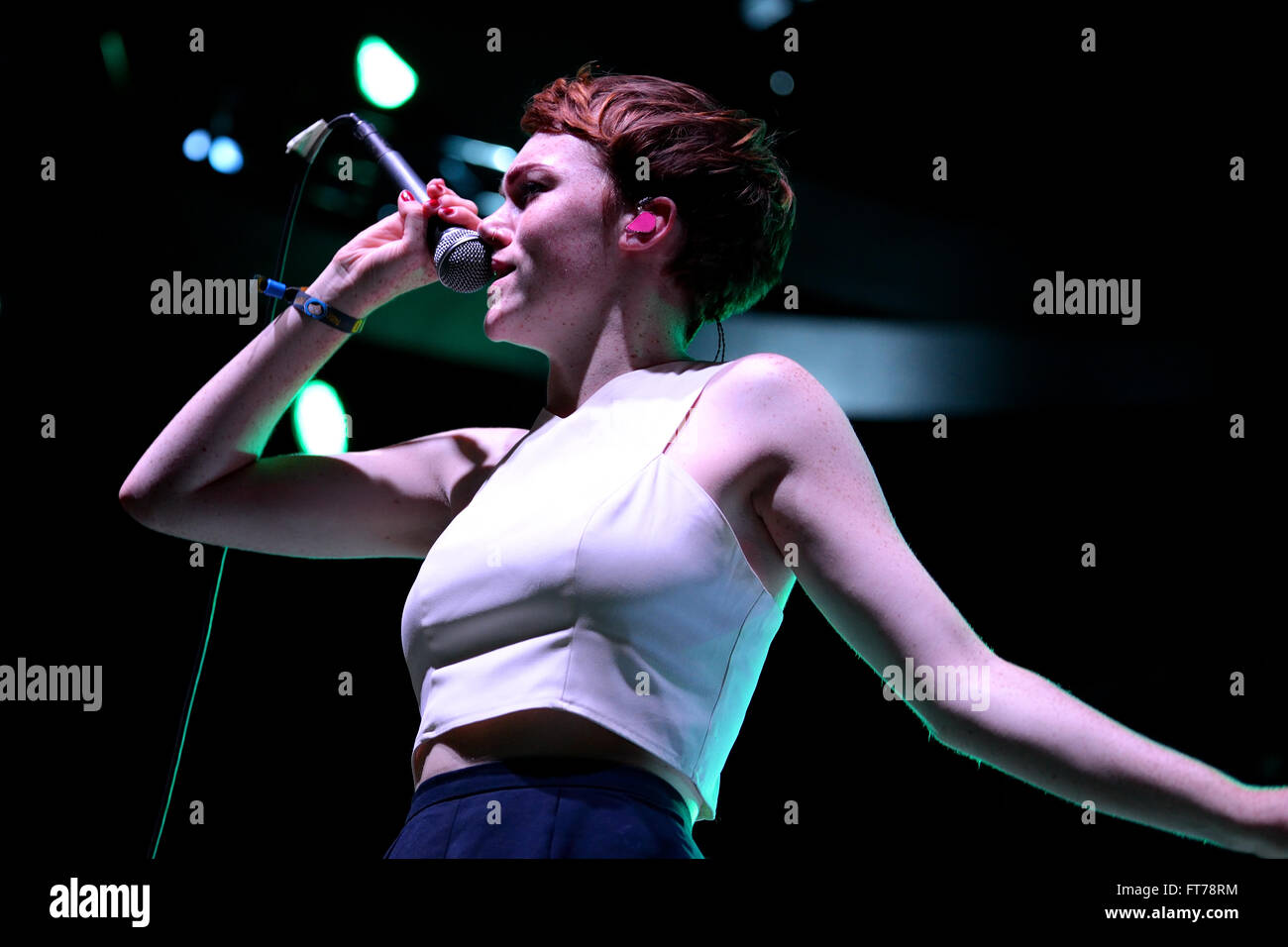 BENICASSIM, SPAIN - JULY 20: Chloe Howl (British singer nominated for the BBC Sound of 2014) performance at FIB - Stock Image