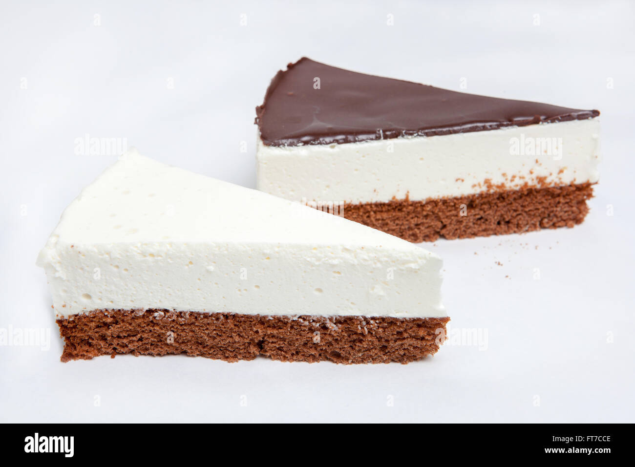 cheesecake, various kinds of ice cream and desserts for the restaurant menu and cafes, a variety of cakes, delicious Stock Photo