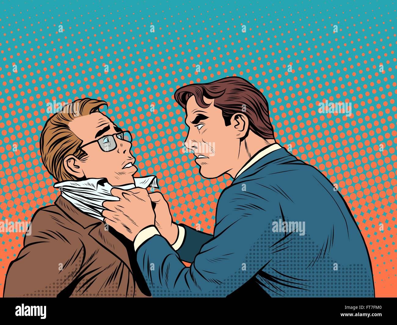 Conflict men fight quarrel businessman - Stock Vector