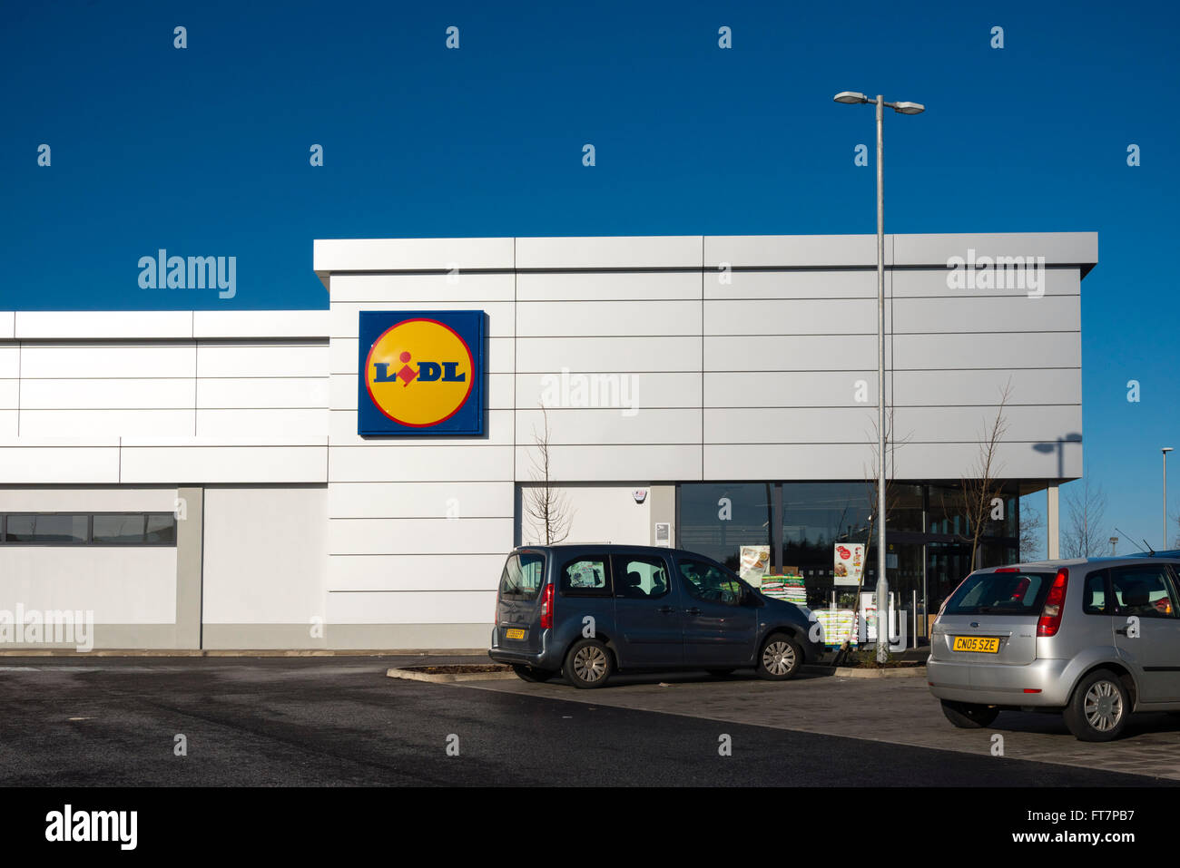 Lidl supermarket, UK. - Stock Image