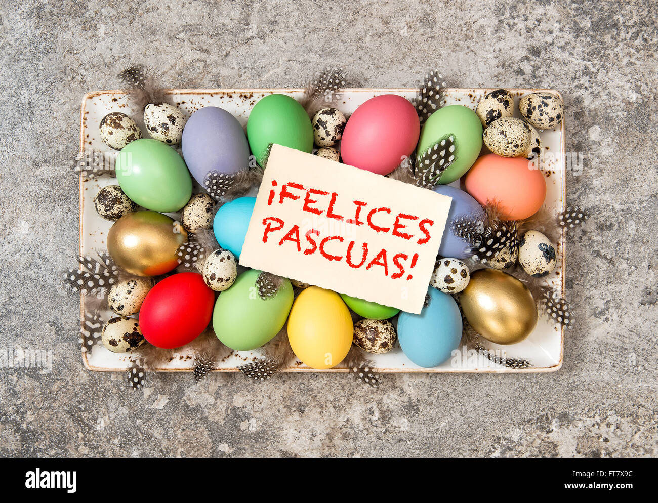 Felices pascuas stock photos felices pascuas stock images alamy easter eggs decoration vintage toned greetings card felices pascuas happy easter spanish m4hsunfo