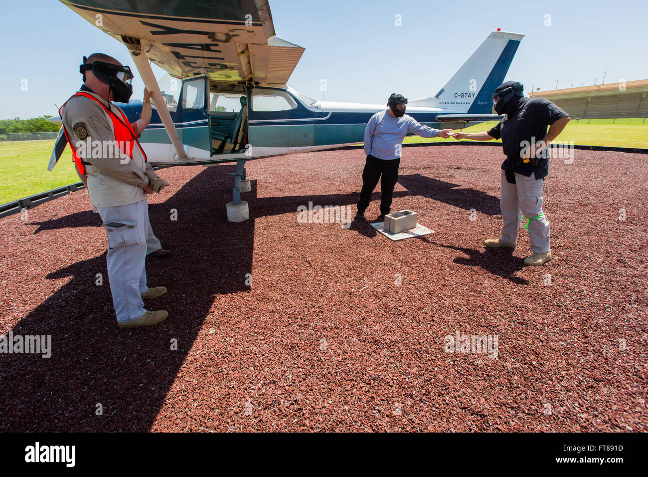 CBP Office of Air and Marine Pilots undergo pilot identification training at a National Air Training Center location - Stock Image