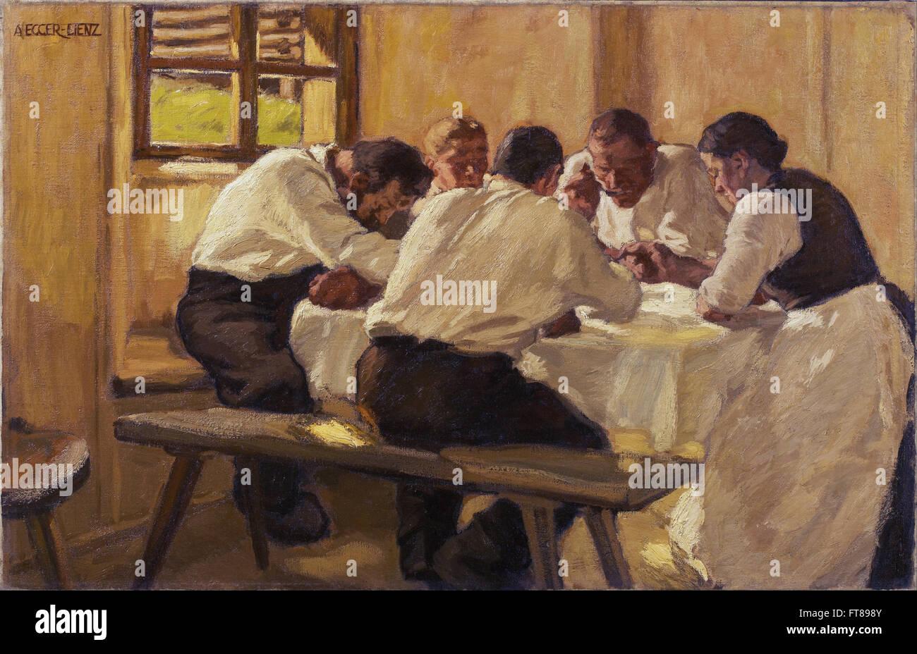 Albin Egger-Lienz - Lunch (The Soup, Version II) -  Leopold Museum, Vienna - Stock Image