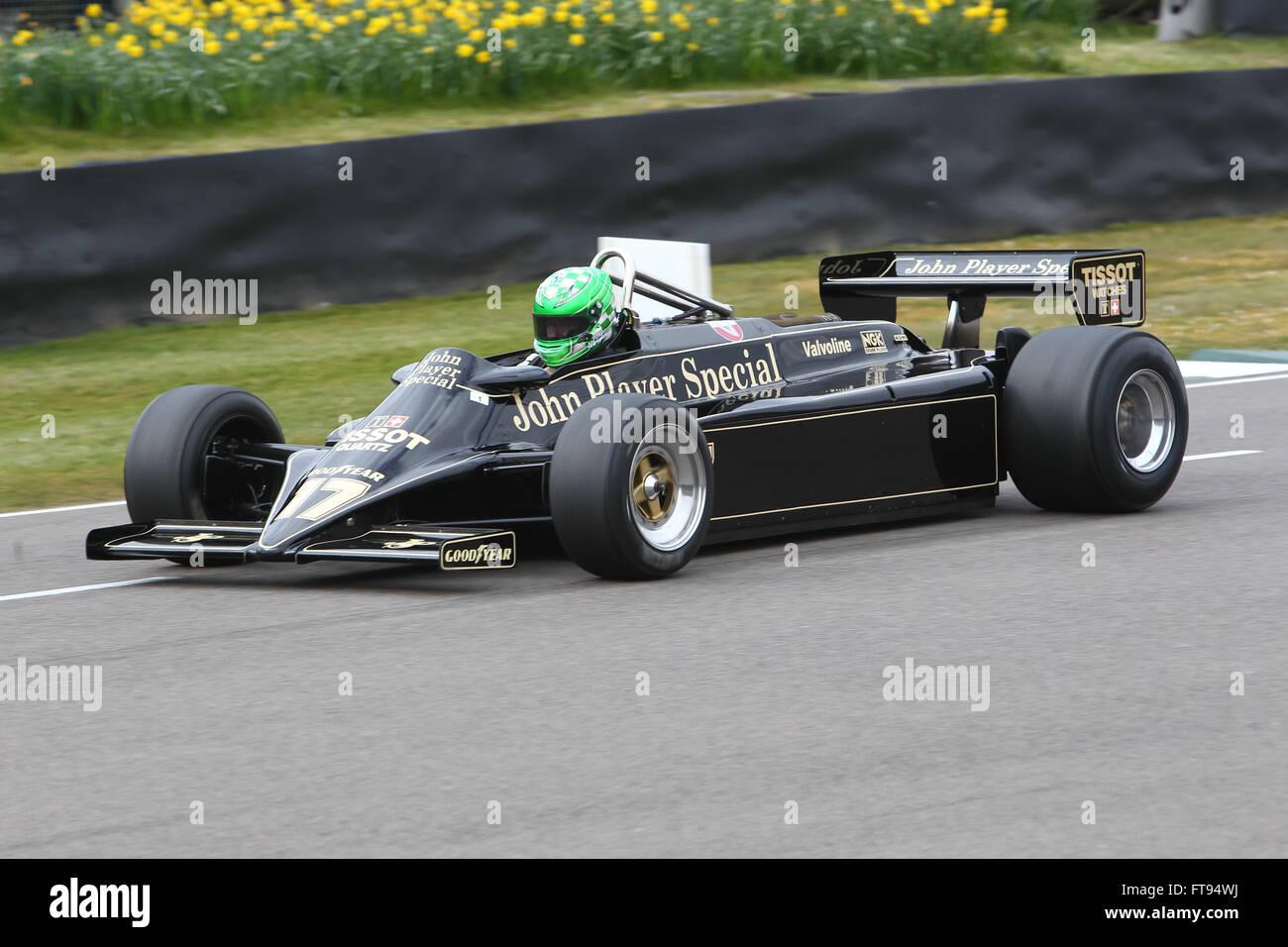 Goodwood classic historic motor racing at the Goodwood Members Meeting - Stock Image