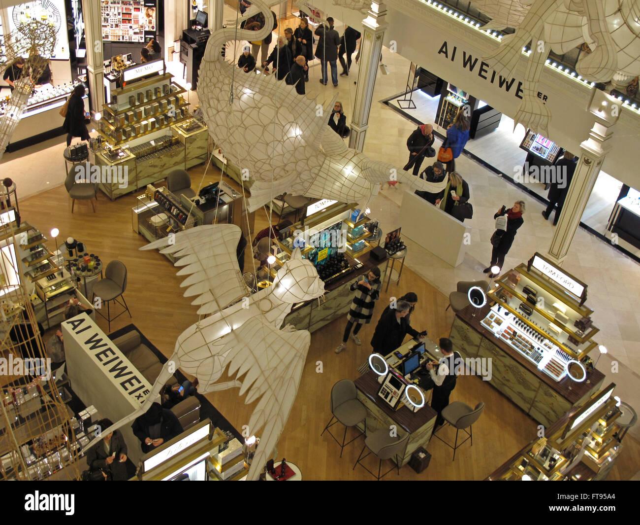Ai Weiwei exhibition Er Xi,Air de jeux in Le Bon Marche Department store,Paris,France - Stock Image