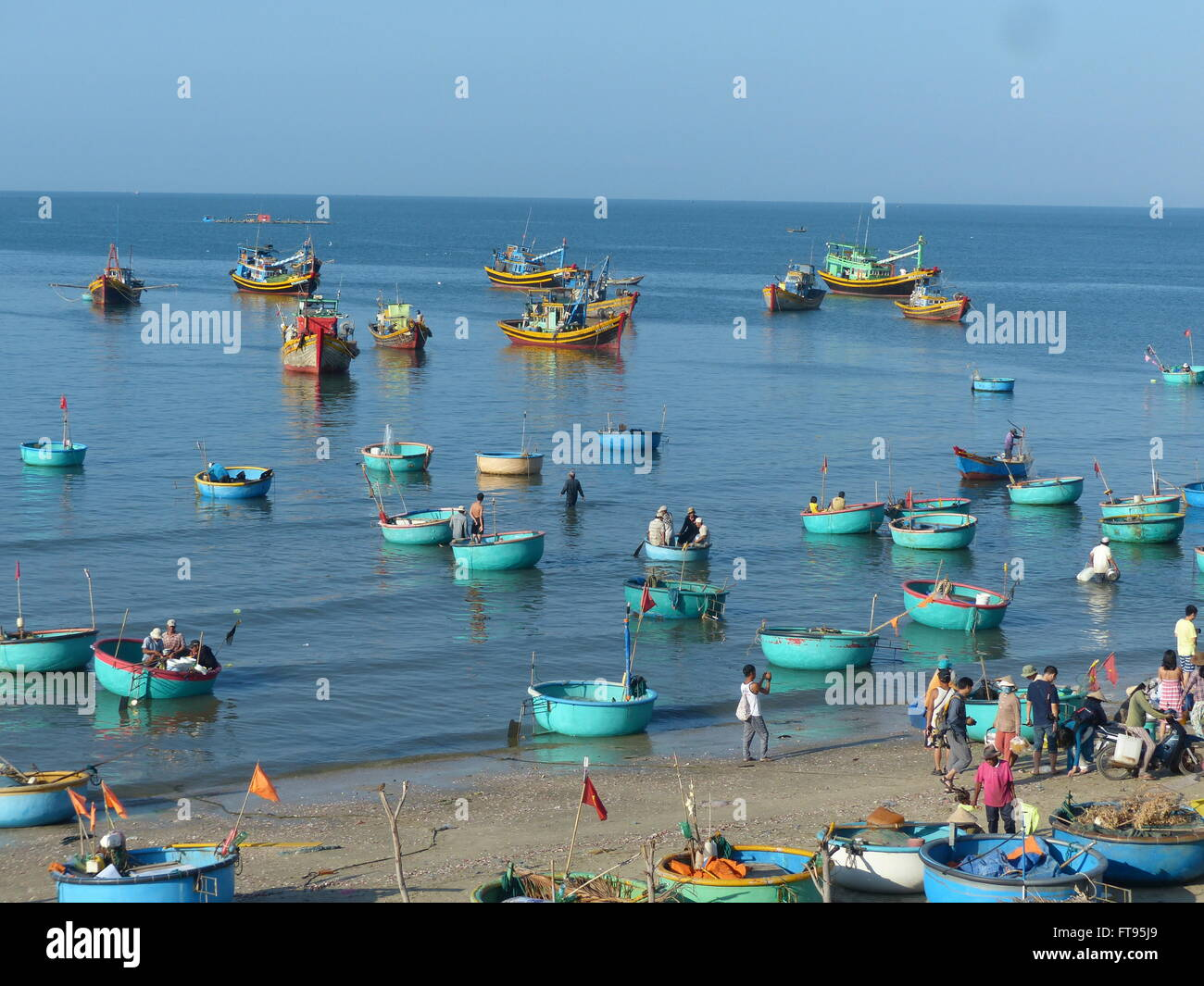 fishing boats in port - Stock Image