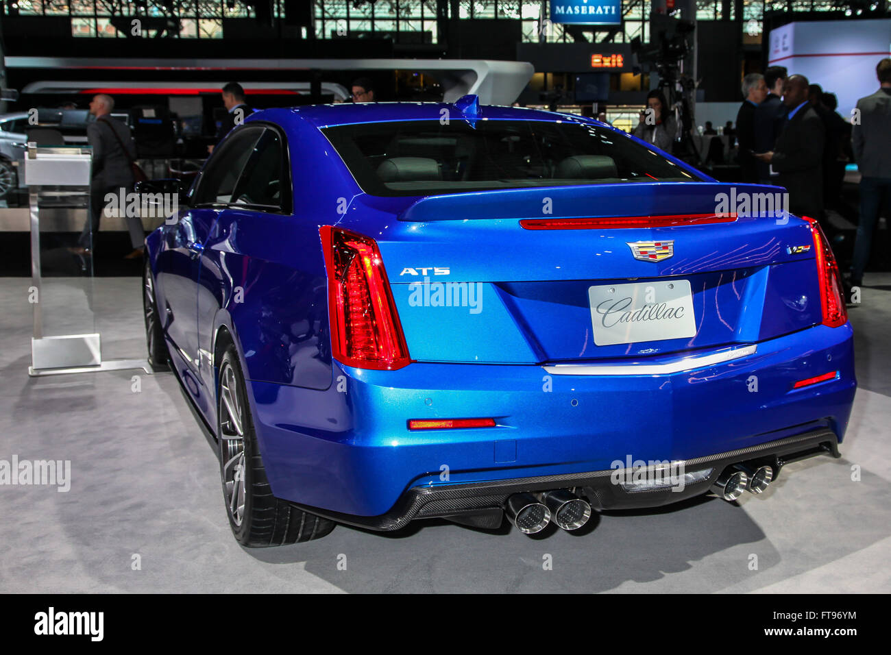 Manhattan, New York, USA. 23rd Mar, 2016. A Cadillac ATS-V shown at the New York International Auto Show 2016, at - Stock Image