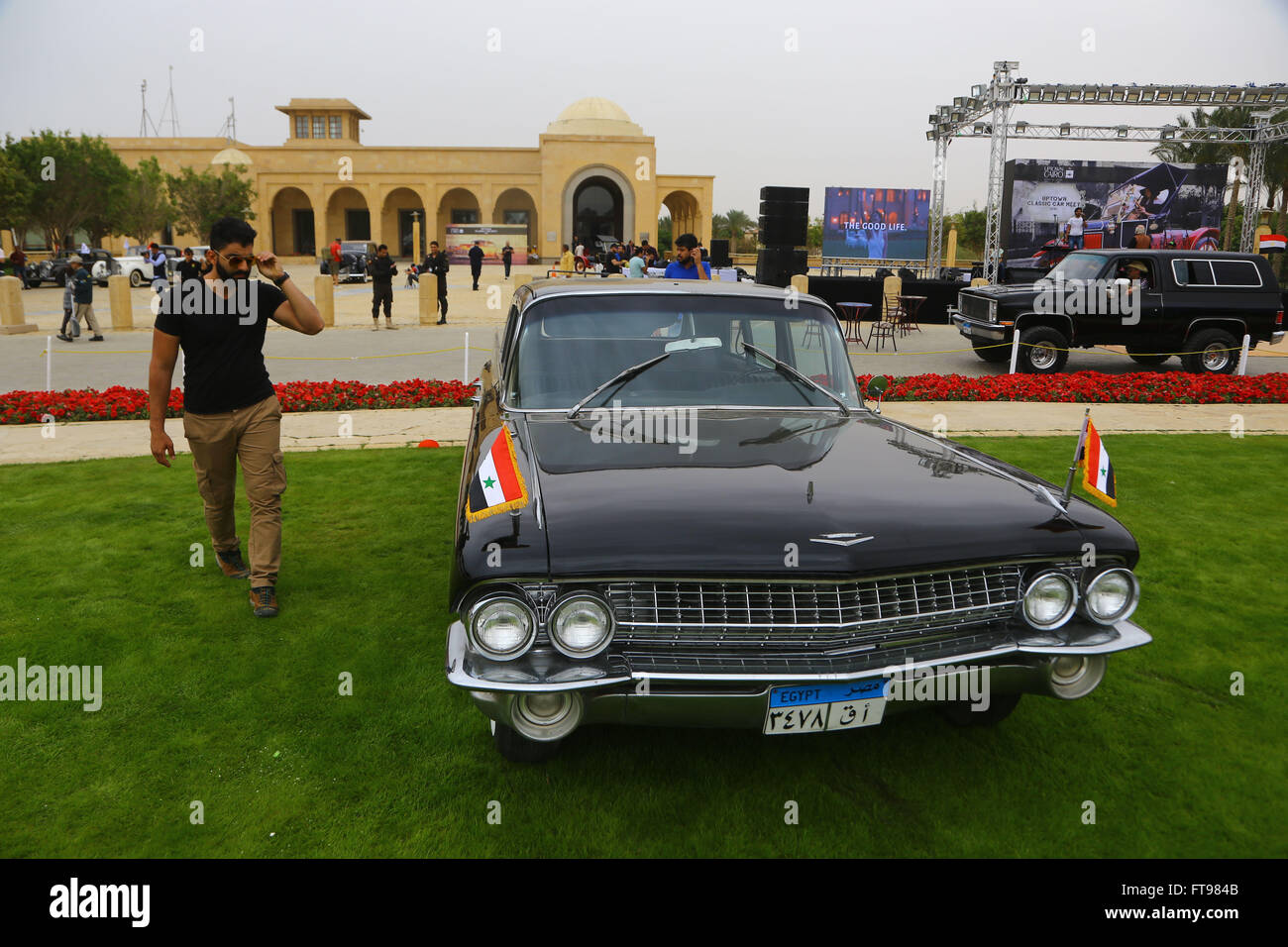 Cairo, Egypt. 25th Mar, 2016. A man walks past the car previously owned by Egypt's former president Gamal Abdel - Stock Image