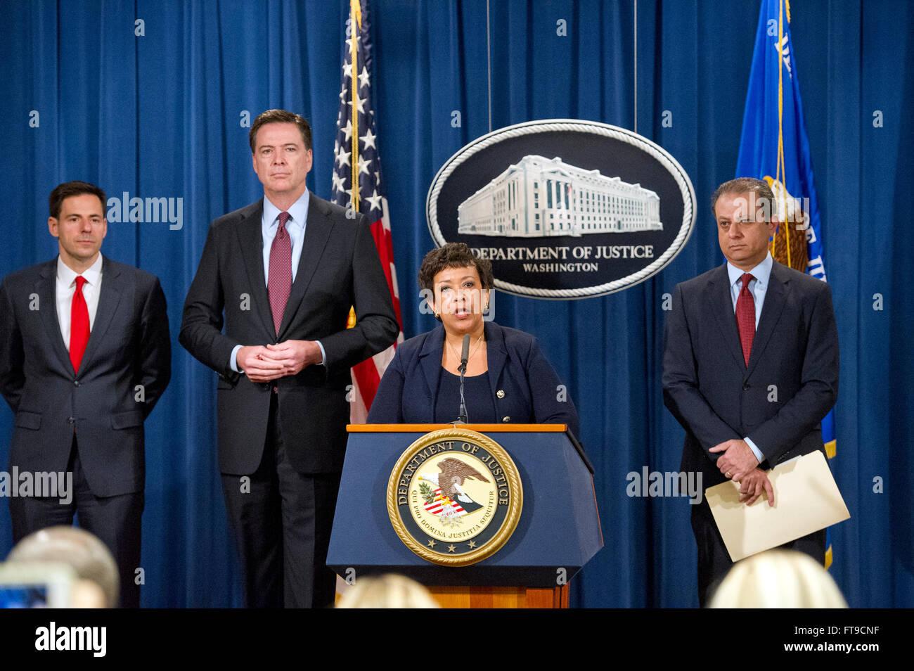 United States Attorney General Loretta E  Lynch and US