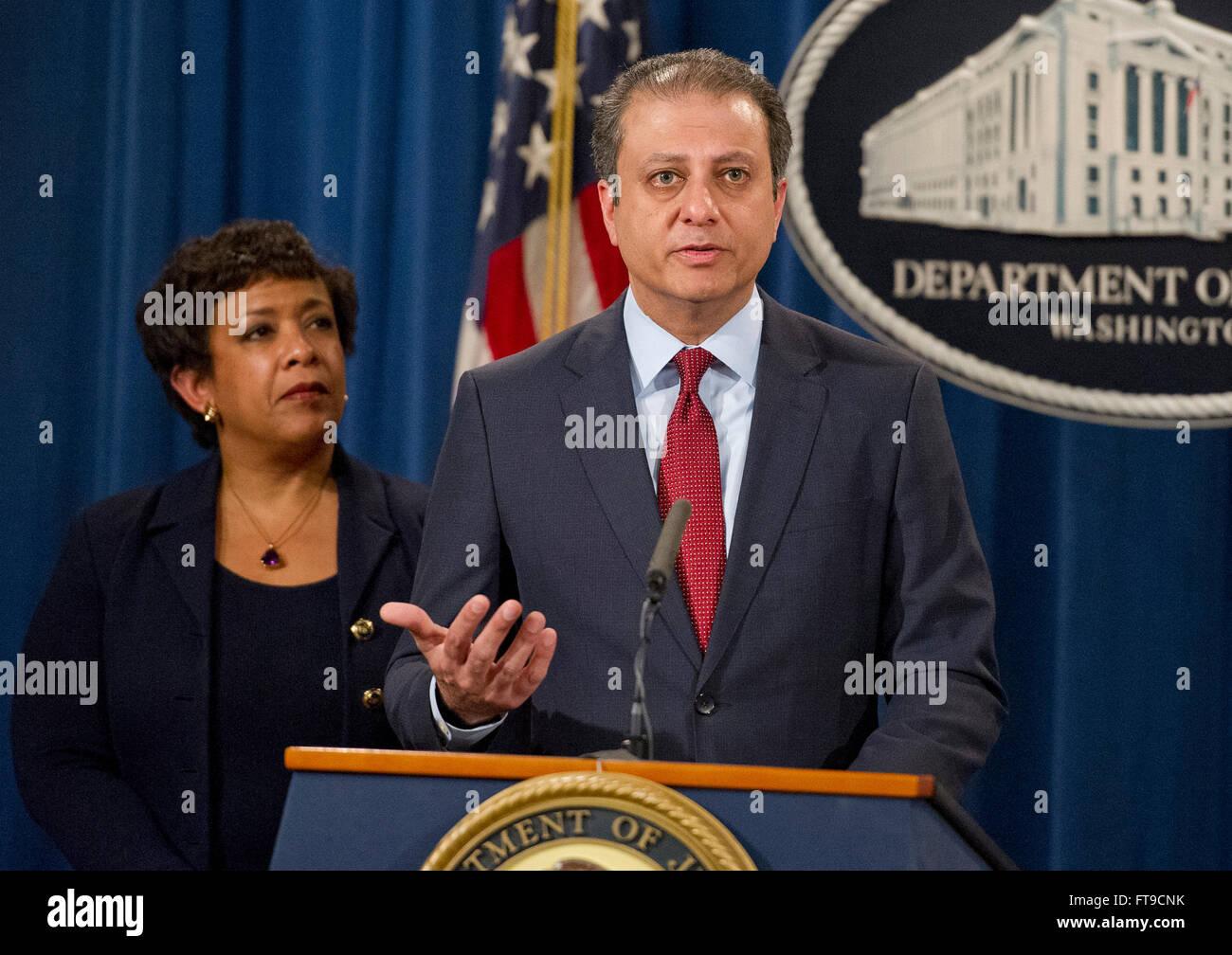 United States Attorney General Loretta E  Lynch, left, looks
