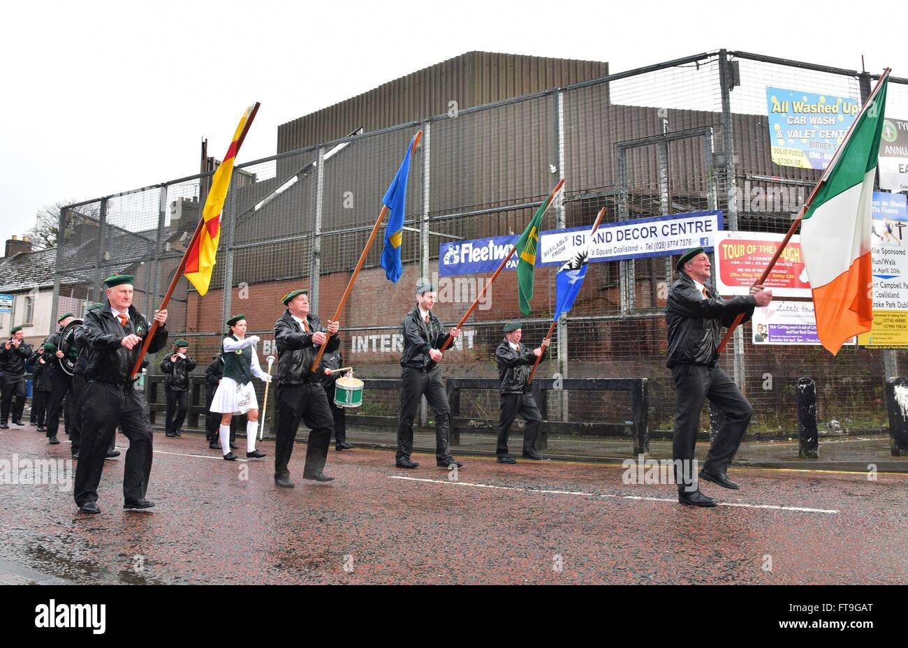 Coalisland, County Tyrone, Northern Ireland. 26th Mar, 2016. An Easter Rising Commemoration and Dedication Parade - Stock Image