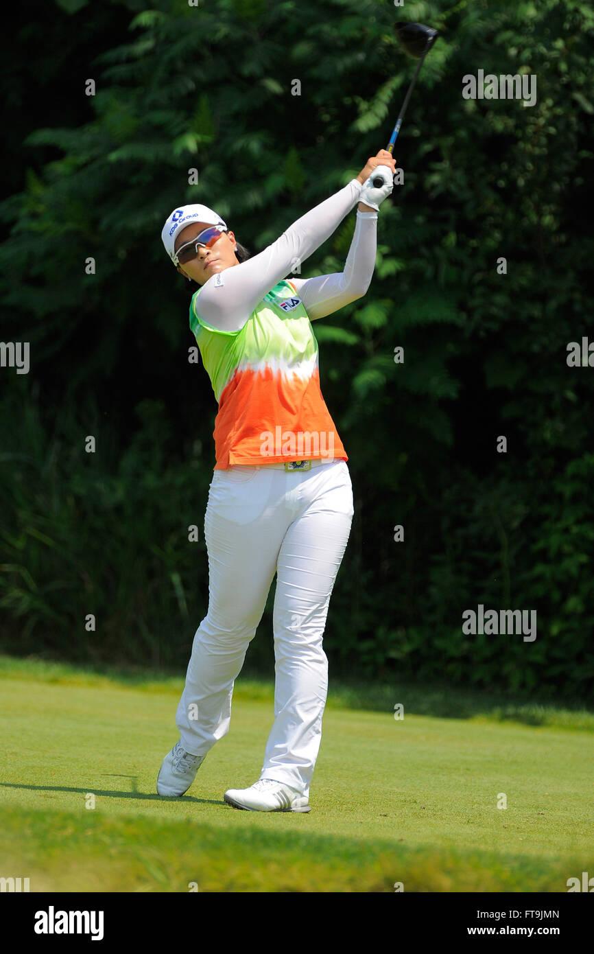 Kohler, Wis, USA. 5th July, 2012. Se Ri Pak during the first round ...