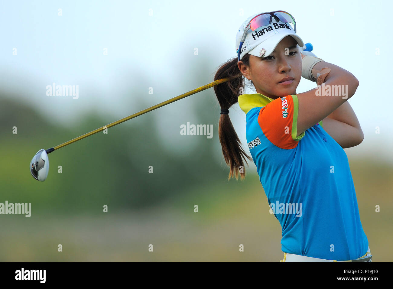 Kohler, Wis, USA. 5th July, 2012. Hee Young Park during the first ...