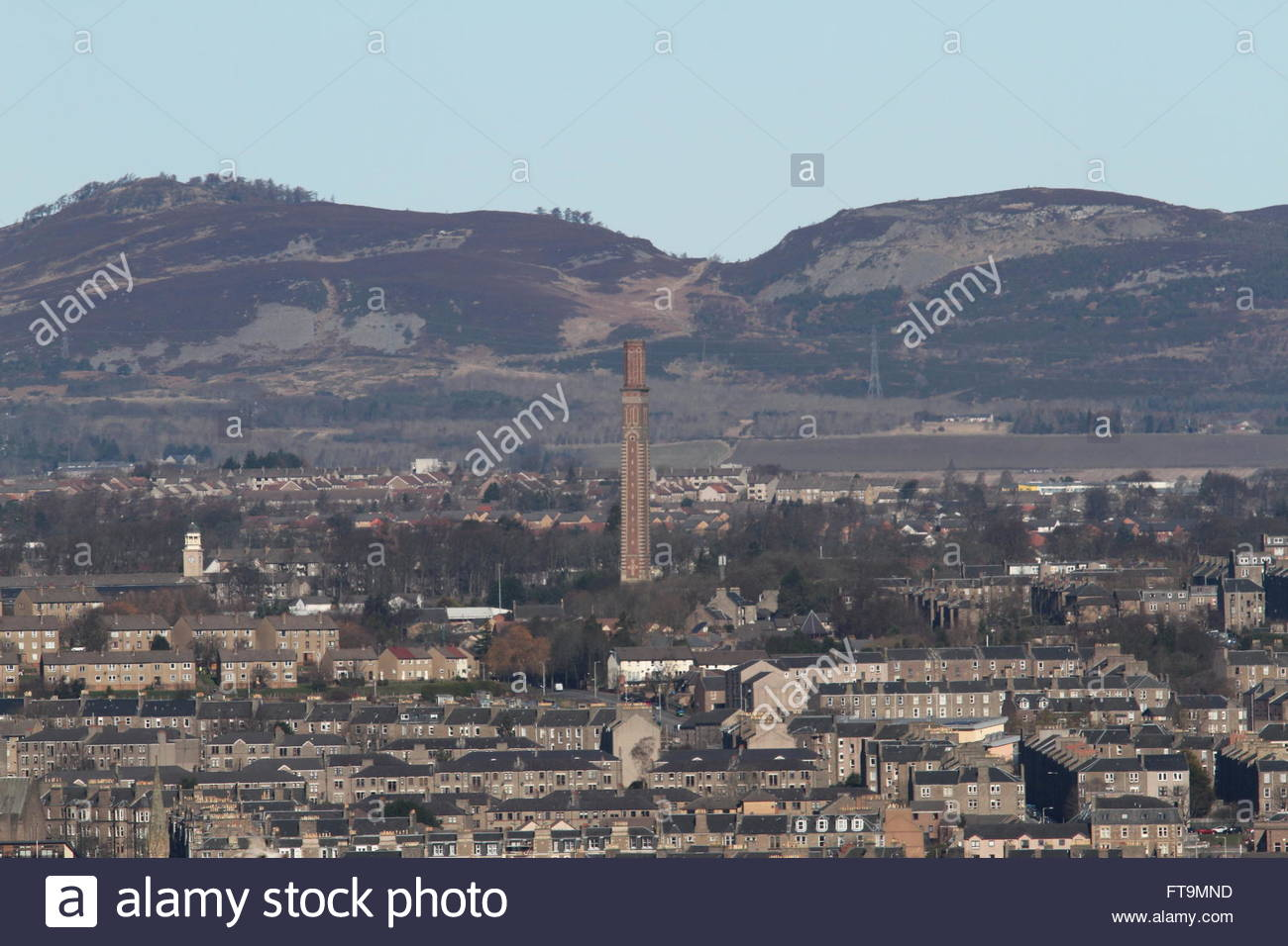 Cox's stack chimney Lochee Dundee Scotland  March 2016 - Stock Image