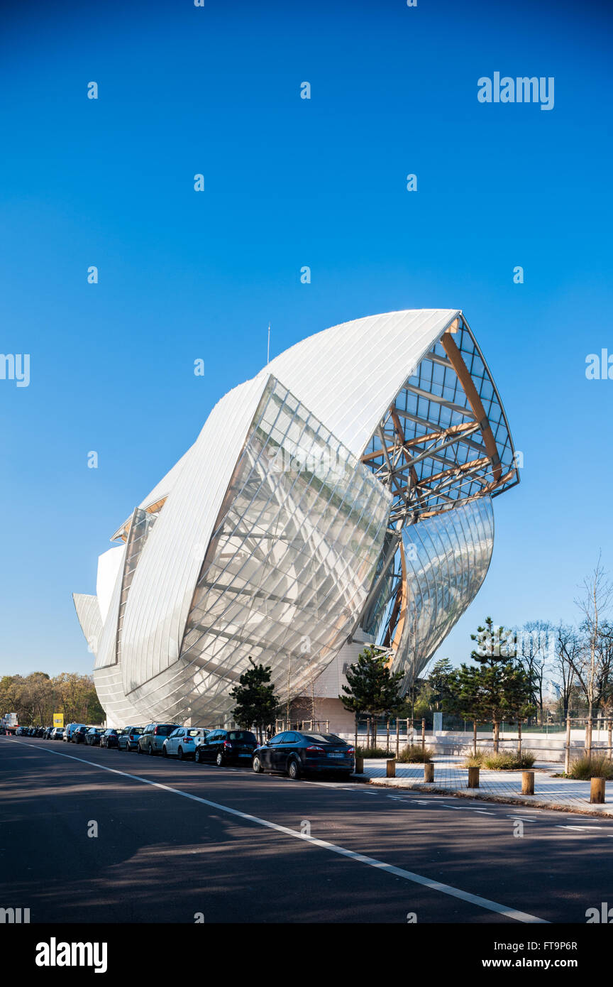 France, Paris, Fondation Louis Vuitton Stock Photo