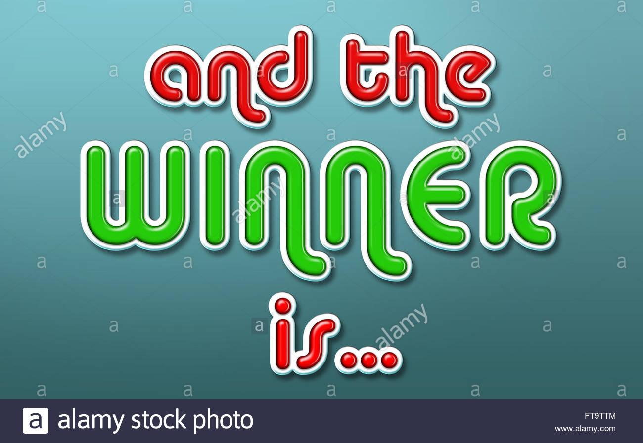 Winner - Stock Image
