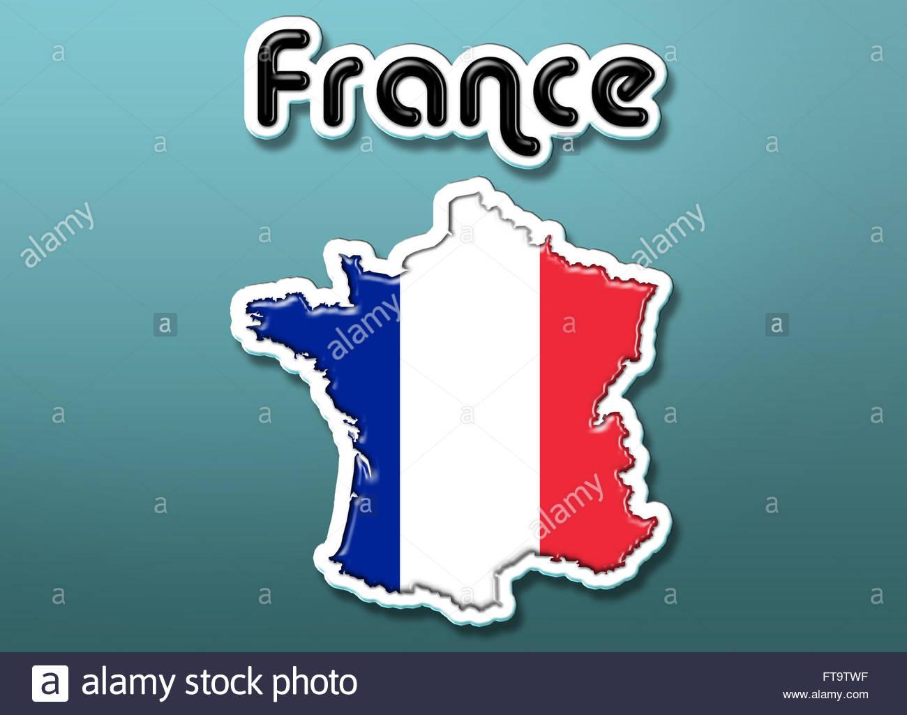 Map of France illustration - Stock Image