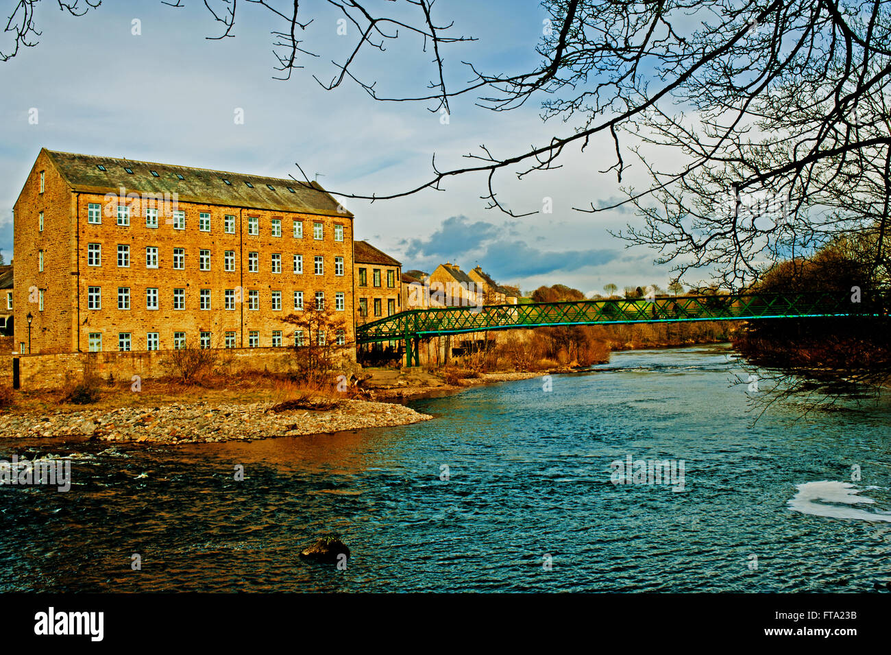 River Tees, Barnard Castle - Stock Image