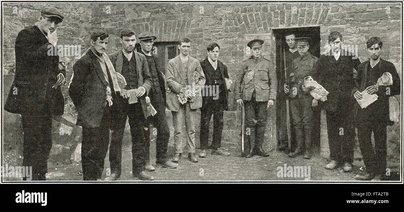 Sinn Fein prisoners at Richmond Barracks Easter uprising 1916 - Stock Image