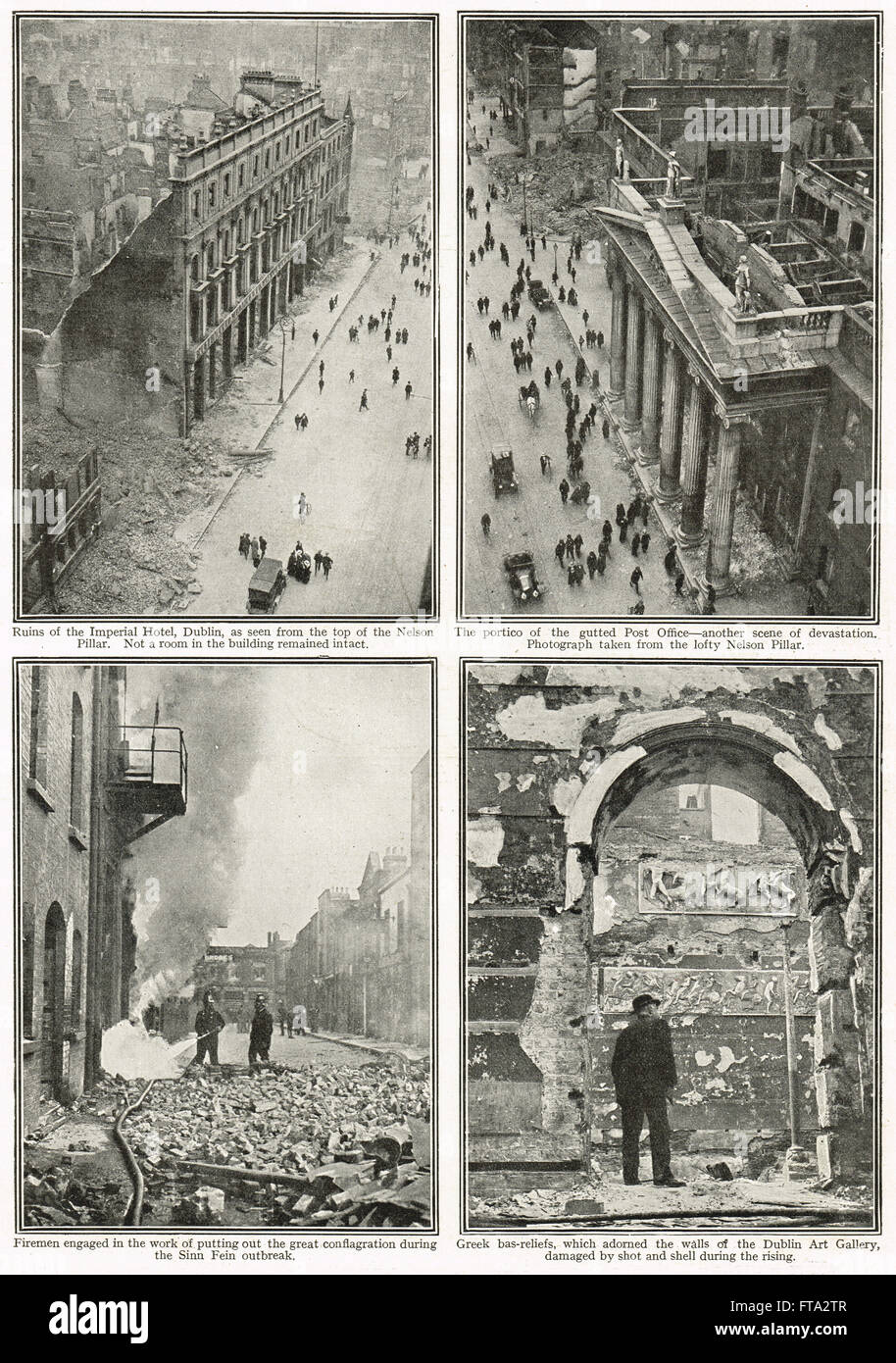 Easter uprising of 1916 the aftermath - Stock Image