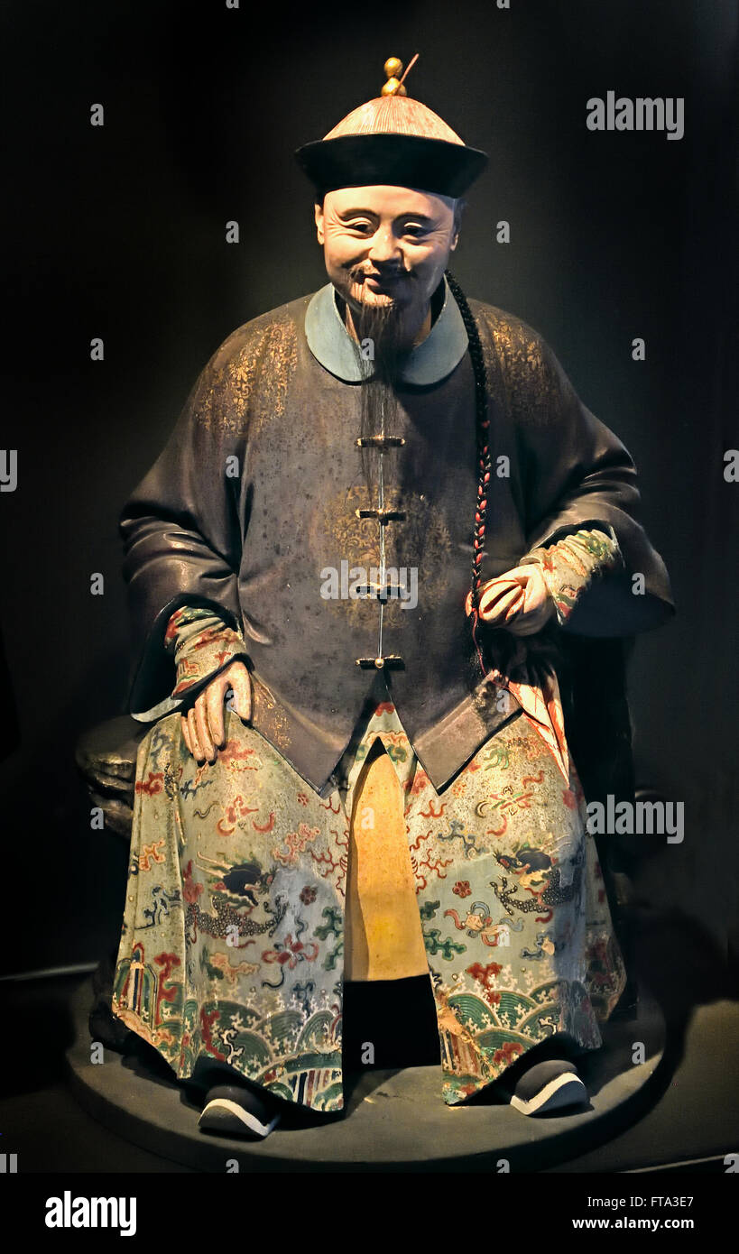 Statue of a government official Qing Dynasty 1765-1807 China Chinese - Stock Image