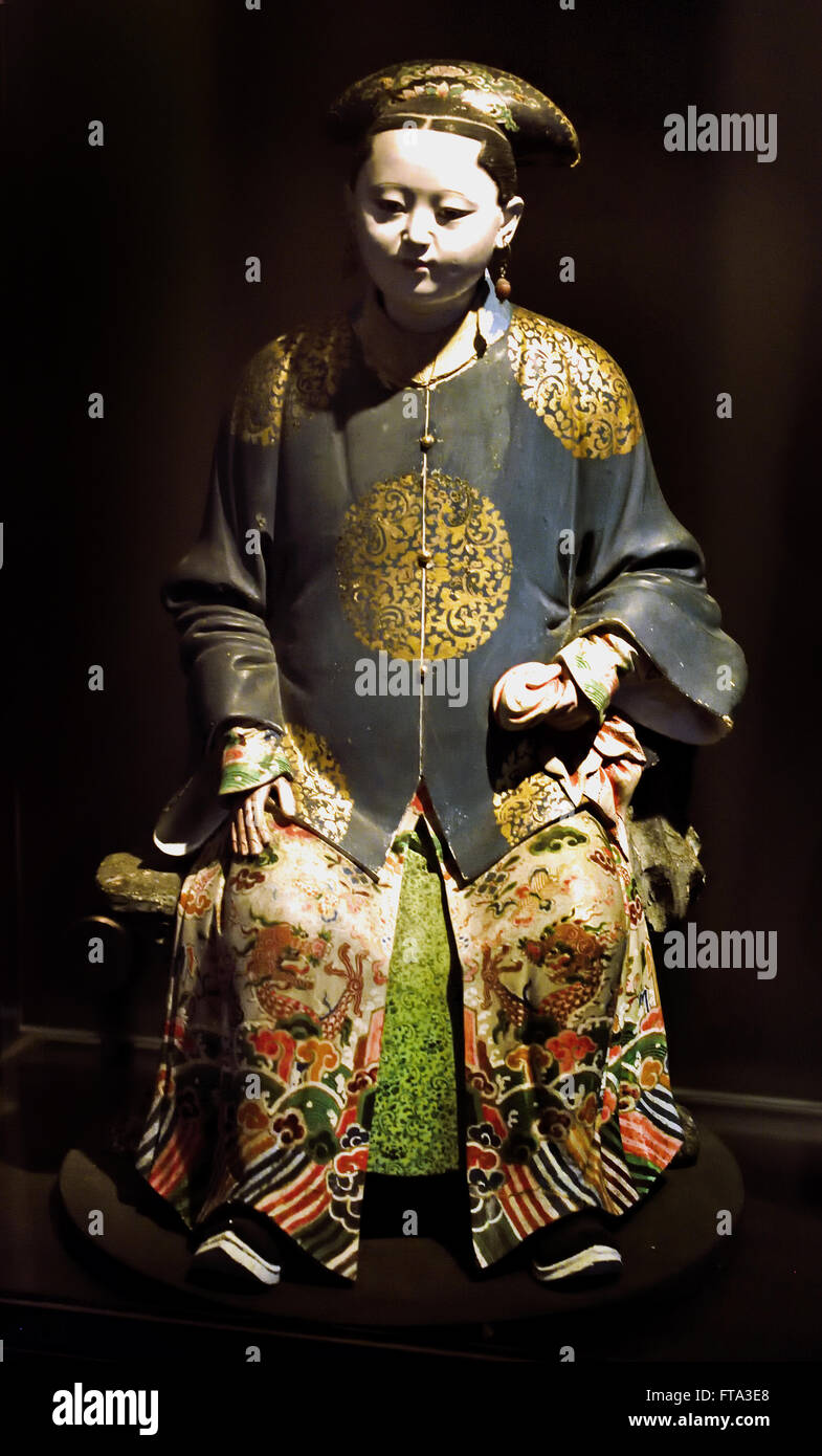 Statue of a woman Qing Dynasty 1765-1807 China Chinese - Stock Image