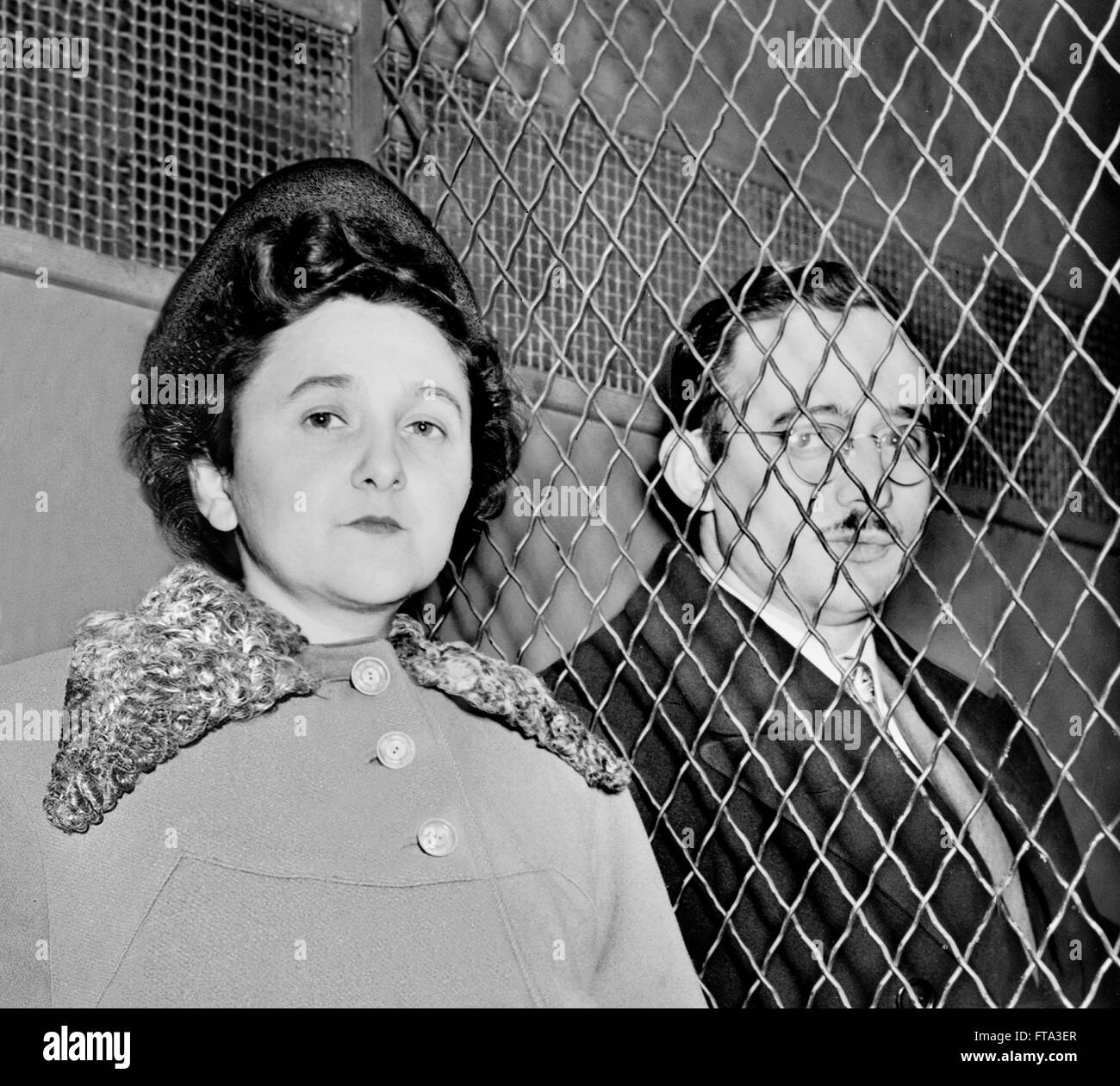 Julius and Ethel Rosenberg, March 1951. - Stock Image