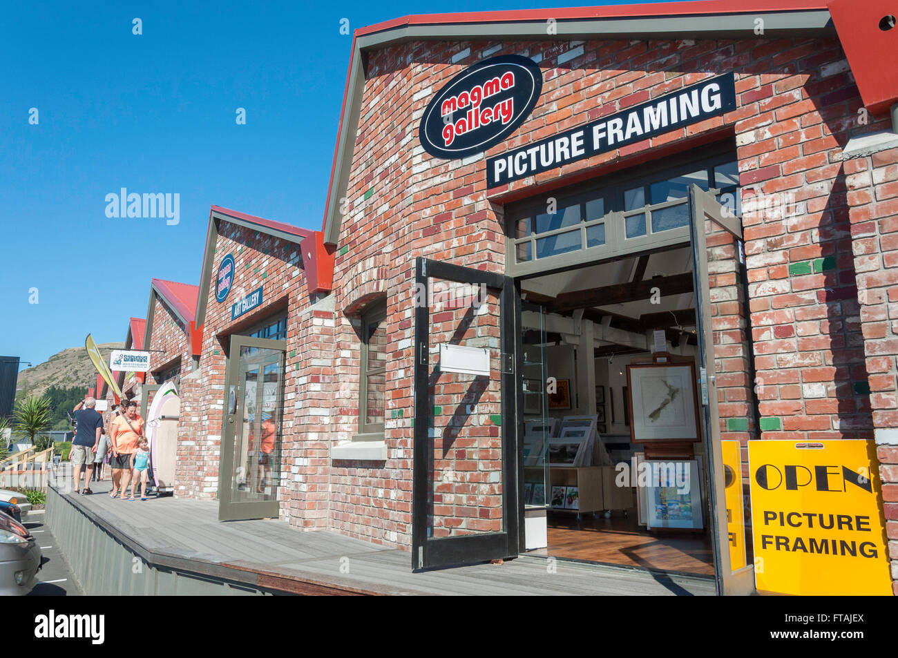Magma Gallery at The Tannery shopping centre, Garlands Road, Woolston, Christchurch, Canterbury, New Zealand - Stock Image
