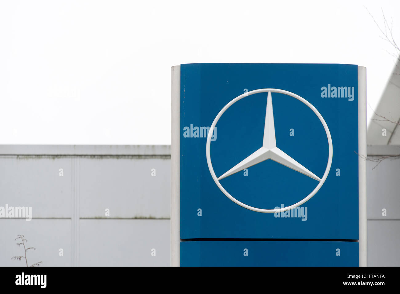 Mercedes sign logo. Stock Photo