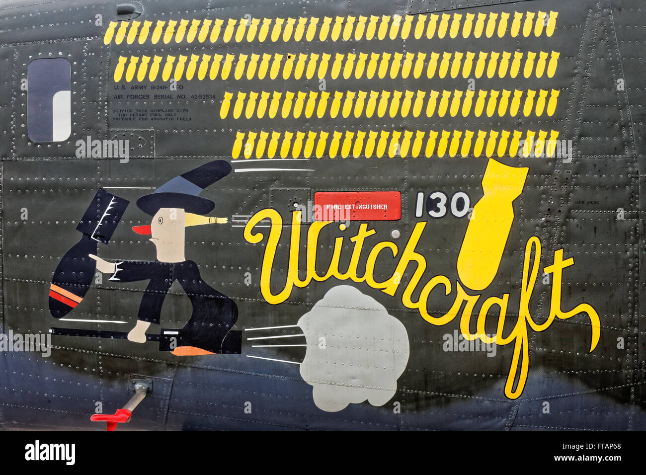 Consolidated B-24 'Witchcraft' - Stock Image