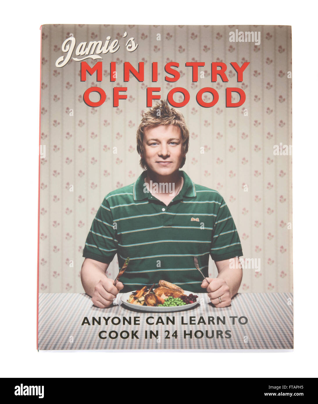 A cookery book by Jamie Oliver called Jamie's Ministry of Food - Stock Image