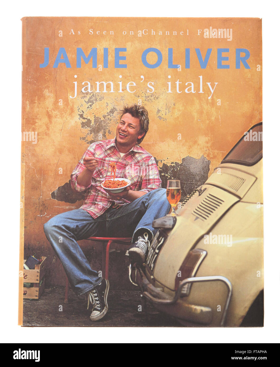 A cookery book called Jamie's Italy - by Jamie Oliver - Stock Image